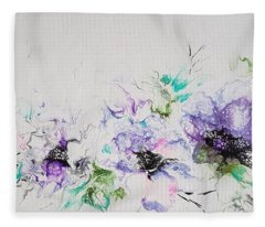 Branch Of Violet  Fleece Blanket