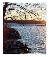 Late-summer Riverbank Fleece Blanket