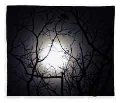 Branches To The Moon Fleece Blanket