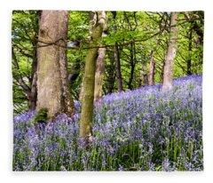Bluebell Wood Fleece Blanket