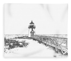 Brant Point Lighthouse Fleece Blanket