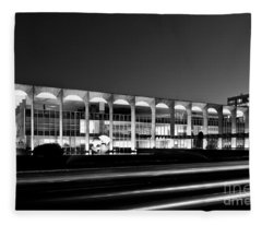 Brasilia - Itamaraty Palace - Black And White Fleece Blanket