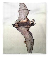 Brazilian Free-tailed Bat Fleece Blanket