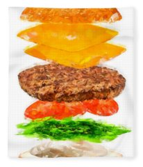 Brazilian Salad Cheeseburger Fleece Blanket