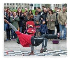Breakdancer Fleece Blanket