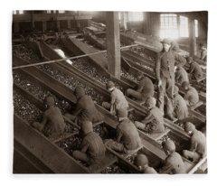 Breaker Boys Lehigh Valley Coal Co Maltby Pa Near Swoyersville Pa Early 1900s Fleece Blanket