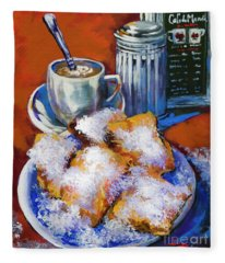 Breakfast At Cafe Du Monde Fleece Blanket