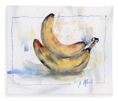 Breakfast Bananas Fleece Blanket