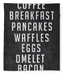 Breakfast List Fleece Blanket