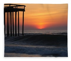 Breaking Sunrise Fleece Blanket