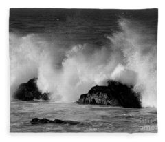 Breaking Wave At Pacific Grove Fleece Blanket