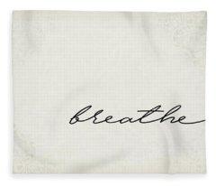 Breathe One Word Series Fleece Blanket