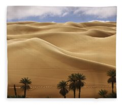 Breathtaking Sand Dunes Fleece Blanket