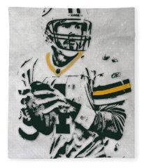 Brett Favre Green Bay Packers Pixel Art Fleece Blanket