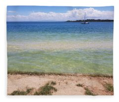 Bribie Ocean  Fleece Blanket