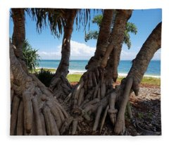 Bribie Trees  Fleece Blanket