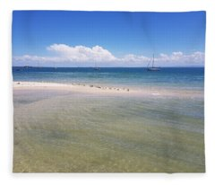 Bribie Waters Fleece Blanket