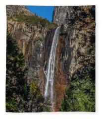 Bridal Veil Falls - My Original View Fleece Blanket