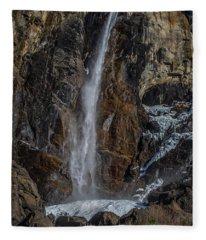 Bridal Veil Falls On Ice Fleece Blanket