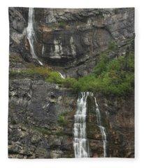 Bridal Veil Falls Provo Canyon Utah Fine Art Photograph Fleece Blanket