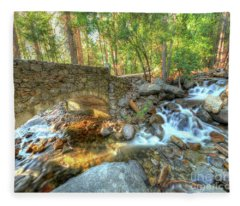 Bridalveil Creek At Yosemite By Michael Tidwell Fleece Blanket
