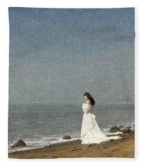Bride By The Sea Fleece Blanket