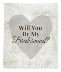 Bridesmaid Card Rustic- Art By Linda Woods Fleece Blanket