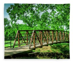 Bridge At Ritter Springs Fleece Blanket
