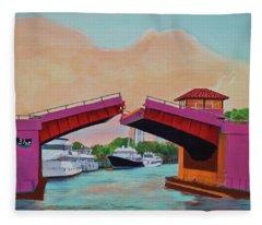 Bridge At Se 3rd Fleece Blanket