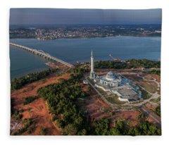 Fleece Blanket featuring the photograph Bridge Connecting Two City by Pradeep Raja PRINTS