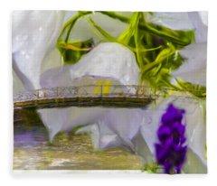 Bridge Flower.  Fleece Blanket