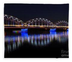 Bridge In Riga  Fleece Blanket