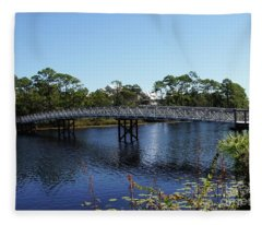 Western Lake Bridge Fleece Blanket