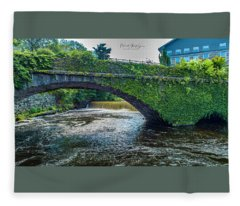 Bridge Of Flowers Fleece Blanket