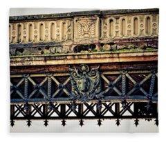Bridge Ornaments In Germany Fleece Blanket