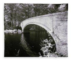 Bridge Over Infrared Waters Fleece Blanket
