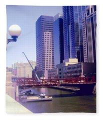 Bridge Overview Fleece Blanket