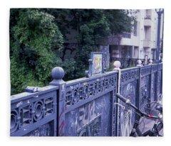 Bridge Railing Fleece Blanket