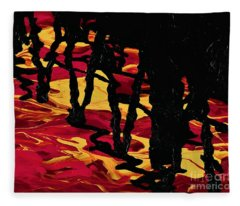Bridge Reflections  Fleece Blanket