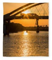 Bridge Sunrise #2 Fleece Blanket