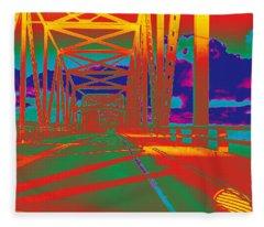 bridge to Astoria #4 Fleece Blanket