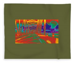 bridge to Astoria #4 Fleece Blanket