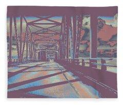 bridge to Astoria #6 Fleece Blanket