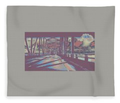 bridge to Astoria #6 Fleece Blanket