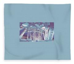 bridge to Longview #1 Fleece Blanket