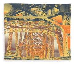 bridge to Longview #2 Fleece Blanket