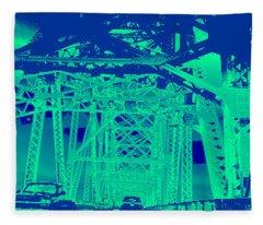 bridge to Longview #3 Fleece Blanket