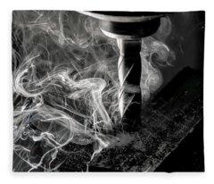End Mill Fleece Blanket