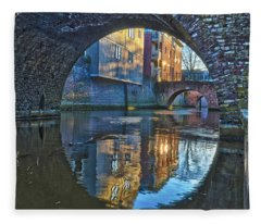 Bridges Across Binnendieze In Den Bosch Fleece Blanket