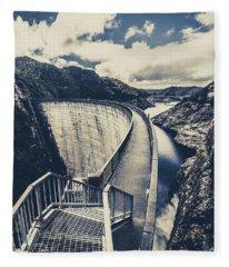 Bridges And Outback Dams Fleece Blanket